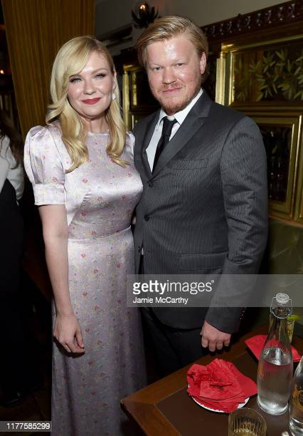 Kirsten Dunst and Jesse Plemons attend the 57th New York Film Festival The Irishman After Party at Tavern On The Green on September 27 2019 in New...