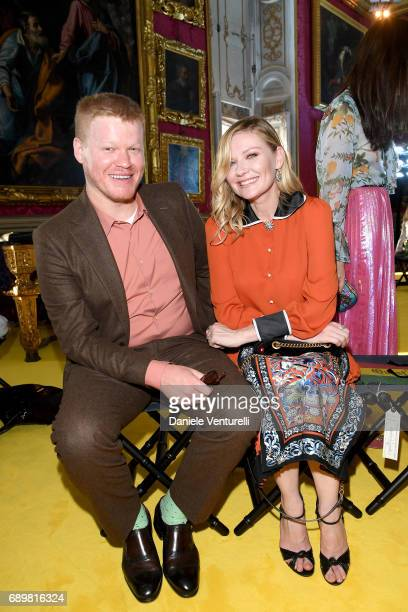 Kirsten Dunst and Jesse Plemons attend the Gucci Cruise 2018 fashion show at Palazzo Pitti on May 29 2017 in Florence Italy