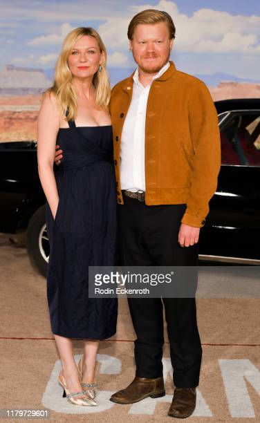 """Kirsten Dunst and Jesse Plemons attend the premiere of Netflix's """"El Camino: A Breaking Bad Movie"""" at Regency Village Theatre on October 07, 2019 in..."""