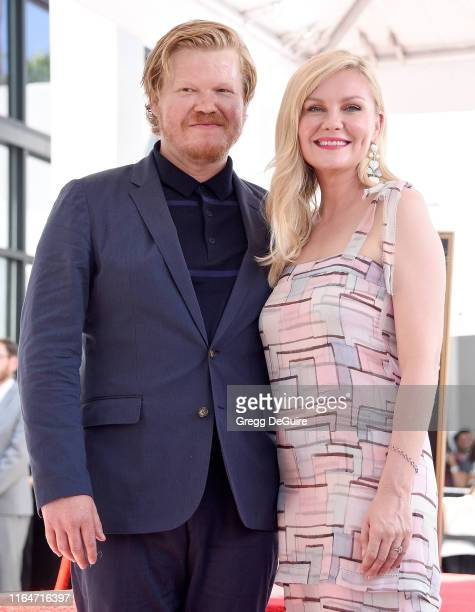 Kirsten Dunst and Jesse Plemons pose as Kirsten is Honored With A Star On The Hollywood Walk Of Fame on August 29 2019 in Hollywood California