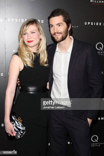 Kirsten Dunst and Jim Sturgess attend the 'Upside Down' Los Angeles Premiere at ArcLight Hollywood on March 12 2013 in Hollywood California