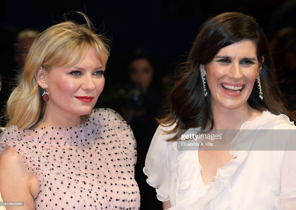 Kirsten Dunst and Laura Mulleavy walk the red carpet ahead of the 'Woodshock' screening during the 74th Venice Film Festival at Sala Giardino on September 4, 2017 in Venice, Italy.