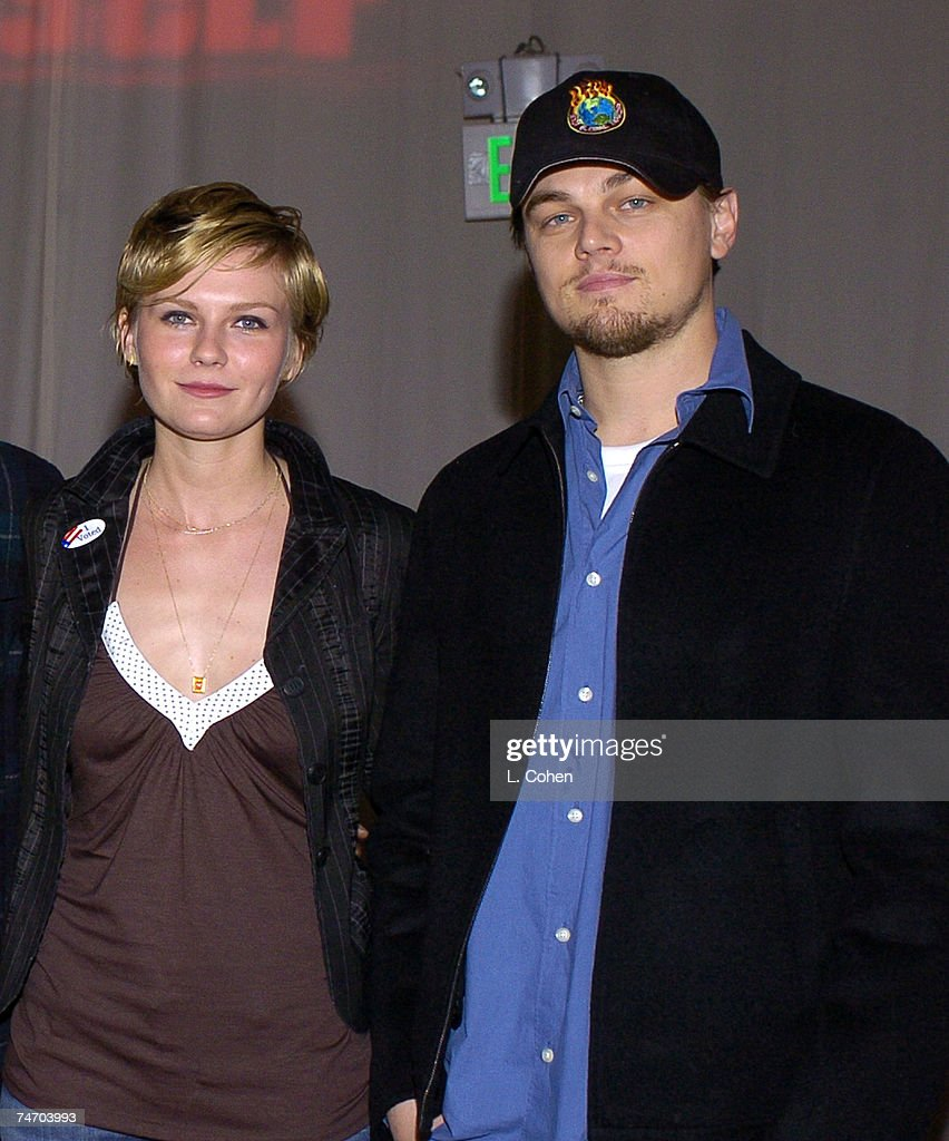 Kirsten Dunst and Leonardo DiCaprio at the Declare Yourself 'Hollywood Celebrates Democracy' event on March 2. Declare Yourself is a national nonpartisan, nonprofit campaign to energize and empower a new movement of young voters to participate in the 2004