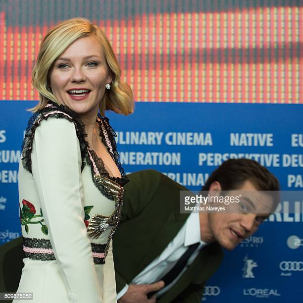 Kirsten Dunst and Michael Shannon attend the 'Midnight Special' press conference during the 66th Berlinale International Film Festival Berlin at...
