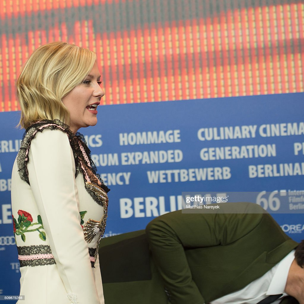 Kirsten Dunst and Michael Shannon attend the 'Midnight Special' press conference during the 66th Berlinale International Film Festival Berlin at Grand Hyatt Hotel on February 12, 2016 in Berlin, Germany.
