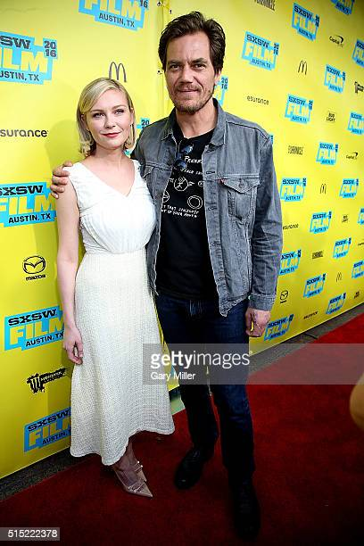 Kirsten Dunst and Michael Shannon attend the premiere of 'Midnight Special' at the Paramount Theater during the South by Southwest Film Festival on...