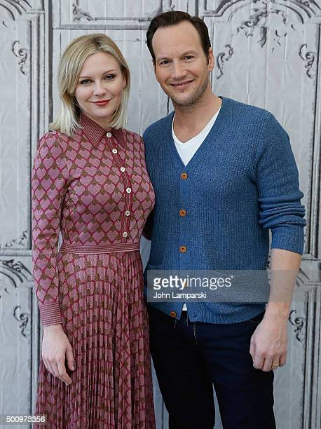 Kirsten Dunst and Patrick Wilson speak about thier film 'Fargo' during AOL Build at AOL Studios In New York on December 11 2015 in New York City