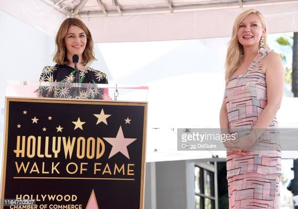 Kirsten Dunst and Sofia Coppola pose as Kirsten is Honored With A Star On The Hollywood Walk Of Fame on August 29 2019 in Hollywood California
