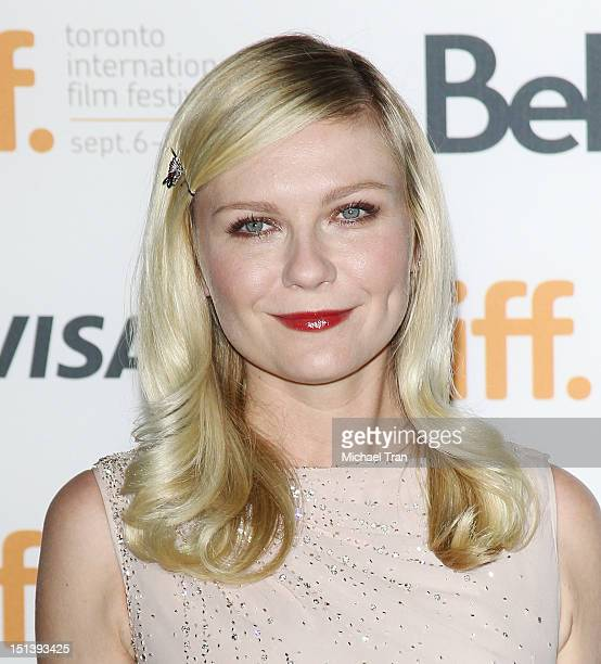 Kirsten Dunst arrives at On The Road premiere during the 2012 Toronto International Film Festival held at Ryerson Theatre on September 6 2012 in...
