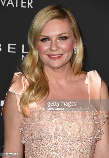 Kirsten Dunst arrives at the 2019 InStyle Awards at The Getty Center on October 21, 2019 in Los Angeles, California.