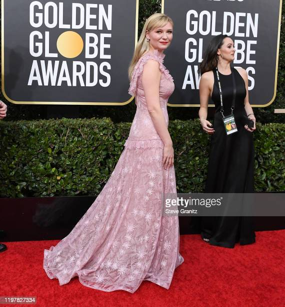Kirsten Dunst arrives at the 77th Annual Golden Globe Awards attends the 77th Annual Golden Globe Awards at The Beverly Hilton Hotel on January 05...