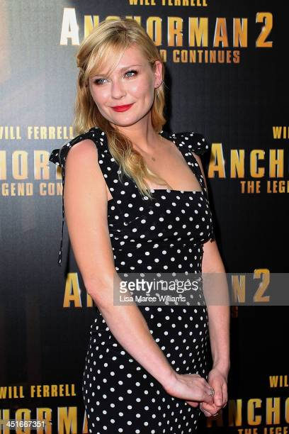 """Kirsten Dunst arrives at the """"Anchorman 2: The Legend Continues"""" Australian premiere at The Entertainment Quarter on November 24, 2013 in Sydney,..."""