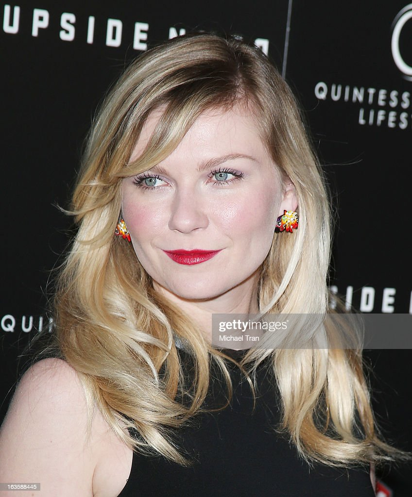 Kirsten Dunst arrives at the Los Angeles premiere of 'Upside Down' held at ArcLight Hollywood on March 12, 2013 in Hollywood, California.