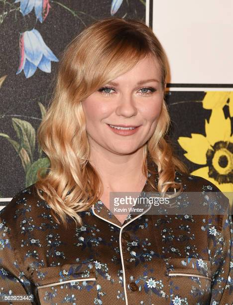 Kirsten Dunst at H&M x ERDEM Runway Show & Party at The Ebell Club of Los Angeles on October 18, 2017 in Los Angeles, California.