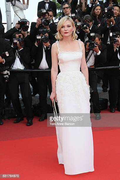 Kirsten Dunst attends a screening of 'Loving' at the annual 69th Cannes Film Festival at Palais des Festivals on May 16 2016 in Cannes France