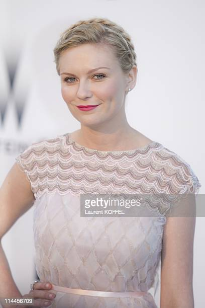 Kirsten Dunst attends amfAR's Cinema Against AIDS Gala during the 64th Annual Cannes Film Festival at Hotel Du Cap on May 19 2011 in Antibes France
