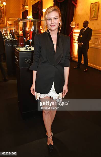 Kirsten Dunst attends as Chopard presents The Garden Of Kalahari collection at Theatre du Chatalet on January 21 2017 in Paris France