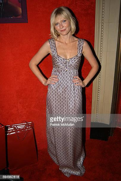 Kirsten Dunst attends Cartier Launches 'Orchid' Jewerly Collection at a Special Night in Cartier Paradise at Gotham Hall on September 14 2005 in New...