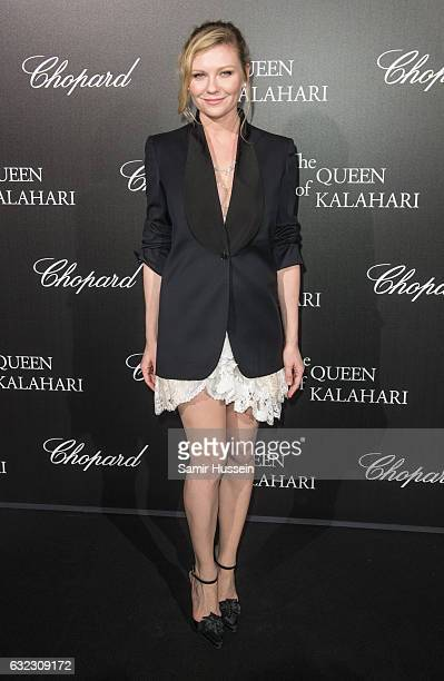 Kirsten Dunst attends Chopard presenting The Garden of Kalahari at Theatre du Chatelet on January 21 2017 in Paris France