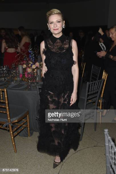 Kirsten Dunst attends the 2017 Guggenheim International Gala made possible by Dior on November 16 2017 in New York City