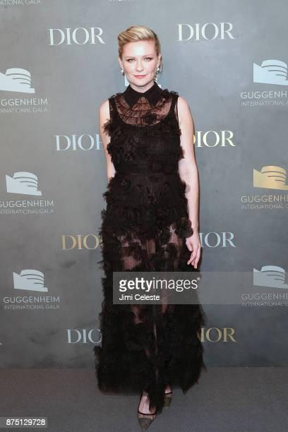 Kirsten Dunst attends the 2017 Guggenheim International Gala on November 16, 2017 in New York City.