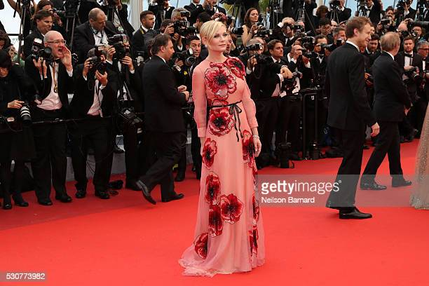 Kirsten Dunst attends the 'Cafe Society' premiere and the Opening Night Gala during the 69th annual Cannes Film Festival at the Palais des Festivals...