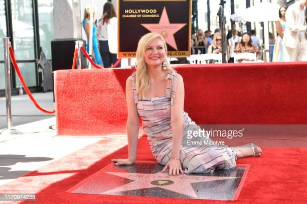 Kirsten Dunst attends the ceremony honoring Kirsten Dunst with a star on the Hollywood Walk of Fame on August 29 2019 in Hollywood California
