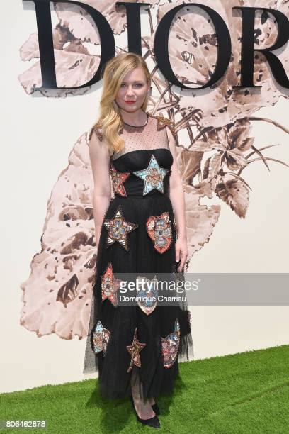 Kirsten Dunst attends the Christian Dior Haute Couture Fall/Winter 20172018 show as part of Haute Couture Paris Fashion Week on July 3 2017 in Paris...