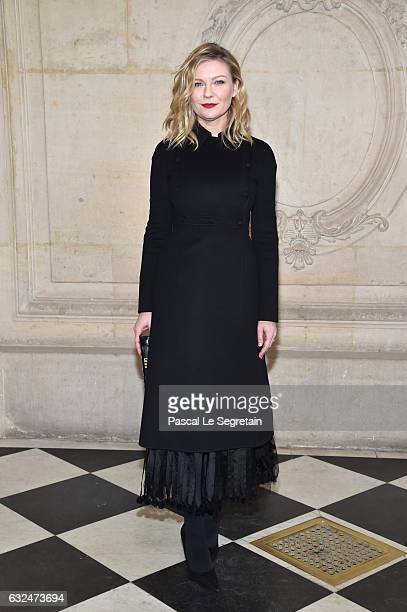 Kirsten Dunst attends the Christian Dior Haute Couture Spring Summer 2017 show as part of Paris Fashion Week on January 23 2017 in Paris France