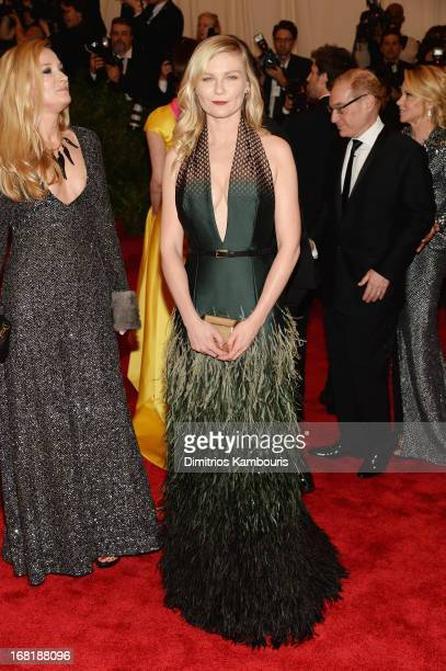 Kirsten Dunst attends the Costume Institute Gala for the PUNK Chaos to Couture exhibition at the Metropolitan Museum of Art on May 6 2013 in New York...