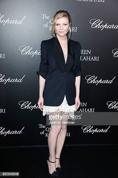 Kirsten Dunst attends The Garden of Kalahari Movie Presentation at Theatre du Chatelet on January 21 2017 in Paris France