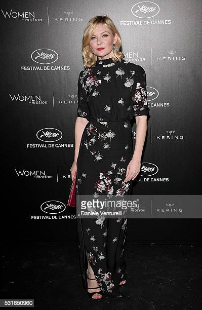 Kirsten Dunst attends the Kering And Cannes Film Festival Official Dinner at Place de la Castre on May 15 2016 in Cannes France