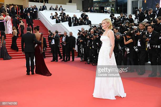 Kirsten Dunst attends the 'Loving' premiere during the 69th annual Cannes Film Festival at the Palais des Festivals on May 16, 2016 in Cannes, .