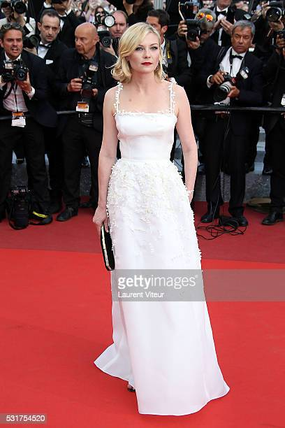 Kirsten Dunst attends the 'Loving' premiere during the 69th annual Cannes Film Festival at the Palais des Festivals on May 16 2016 in Cannes