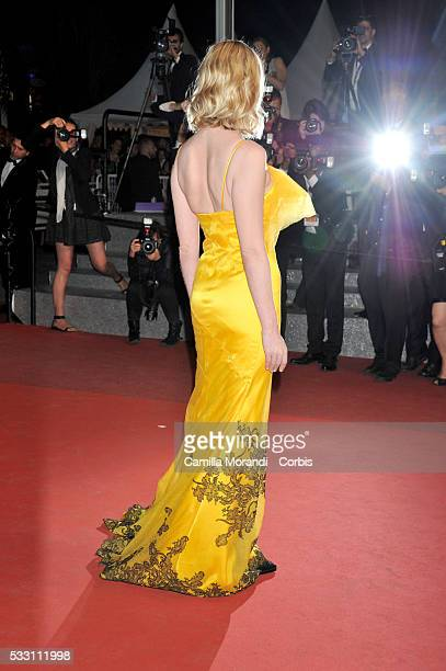 """Kirsten Dunst attends """"The Neon Demon"""" premiere at the 69th annual Cannes Film Festival at Palais des Festivals on May 20, 2016 in Cannes, France."""
