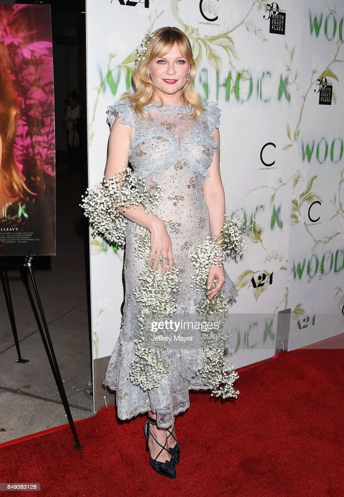 Kirsten Dunst attends the premiere of A24's 'Woodshock' at the ArcLight Cinemas on September 18, 2017 in Hollywood, California.