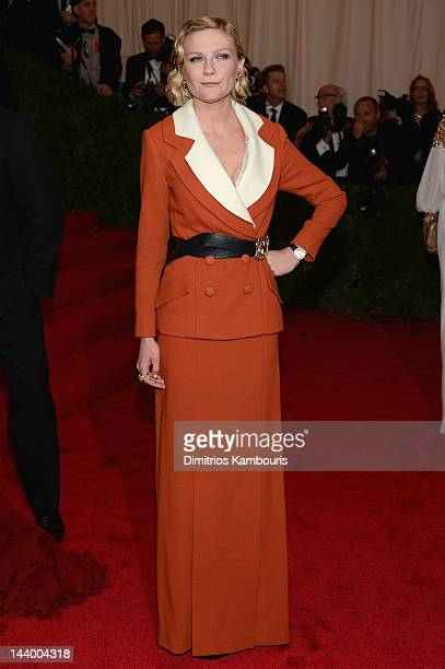 """Kirsten Dunst attends the """"Schiaparelli And Prada: Impossible Conversations"""" Costume Institute Gala at the Metropolitan Museum of Art on May 7, 2012..."""