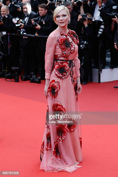 Kirsten Dunst attends the screening of 'Cafe Society' at the opening gala of the annual 69th Cannes Film Festival at Palais des Festivals on May 11...