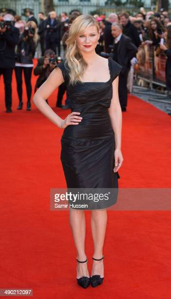 Kirsten Dunst attends the UK Premiere of 'The Two Faces Of January' at The Curzon Mayfair on May 13 2014 in London England
