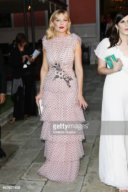 Kirsten Dunst attends the Woodshock party during the 74th Venice Film Festival at San Clemente Palace Hotel on September 4 2017 in Venice Italy