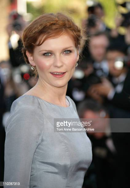 Kirsten Dunst during 2006 Cannes Film Festival 'Marie Antoinette' Premiere at Palais des Festival in Cannes France