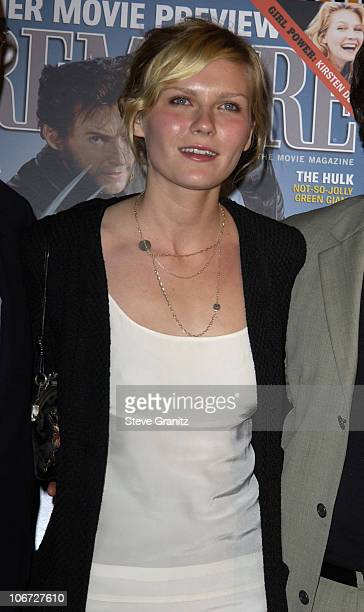 Kirsten Dunst during Premiere's The New Power Event Celebrates Hollywood Power Players Under The Age Of 35 at Ivar in Hollywood California United...