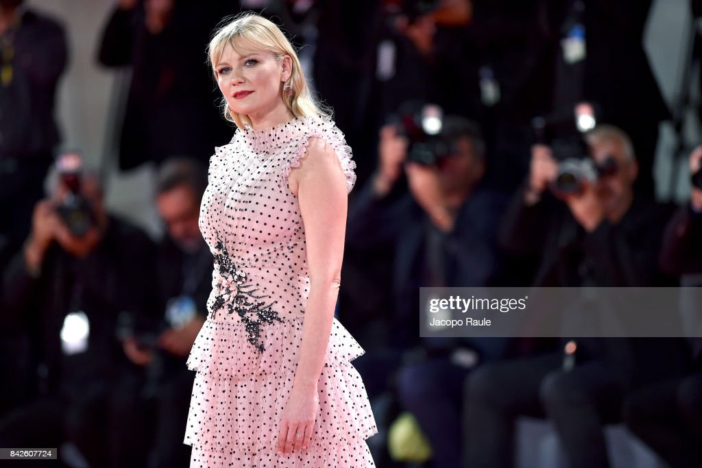 Kirsten Dunst from 'Woodshock' movie walks the red carpet ahead of the 'Three Billboards Outside Ebbing, Missouri' screening during the 74th Venice Film Festival at Sala Grande on September 4, 2017 in Venice, Italy. on September 4, 2017 in Venice, Italy.