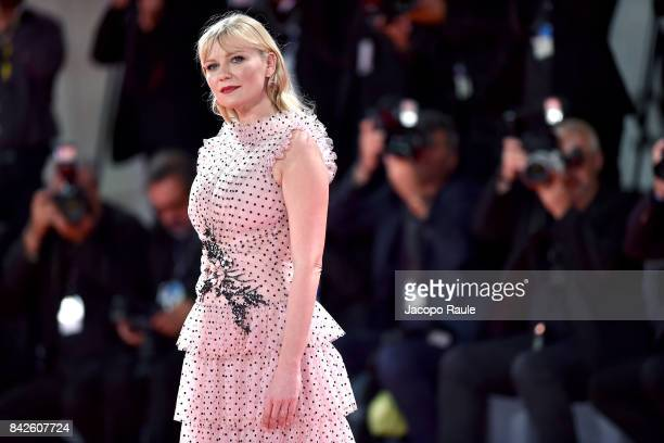 Kirsten Dunst from 'Woodshock' movie walks the red carpet ahead of the 'Three Billboards Outside Ebbing Missouri' screening during the 74th Venice...