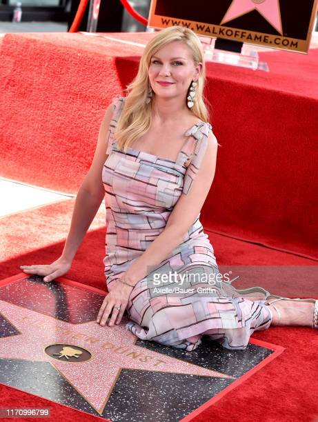 Kirsten Dunst is honored with a Star on the Hollywood Walk of Fame on August 29 2019 in Hollywood California