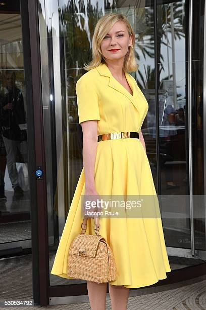 Kirsten Dunst is seen at Hotel Martinez during the annual 69th Cannes Film Festival at on May 11 2016 in Cannes France