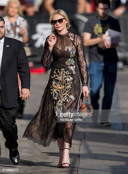 Kirsten Dunst is seen at 'Jimmy Kimmel Live' on March 15 2016 in Los Angeles California