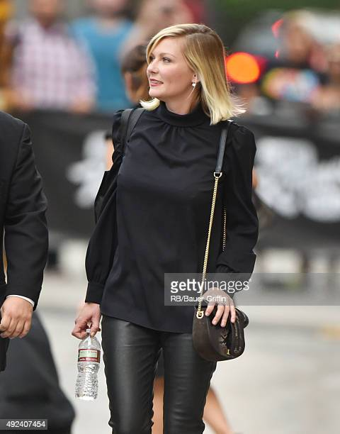 Kirsten Dunst is seen at 'Jimmy Kimmel Live' on October 12 2015 in Los Angeles California