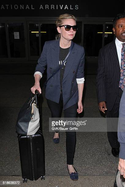 Kirsten Dunst is seen at LAX on April 01 2016 in Los Angeles California