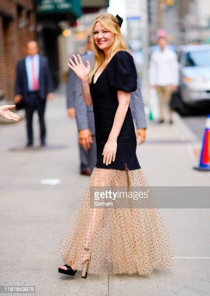 Kirsten Dunst is seen at Stephen Colbert Show on August 15 2019 in New York City